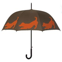 The San Francisco Umbrella Company Dog Park Jack Russell Terrier Silhouette Walking Stick Umbrella