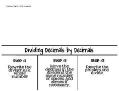 Decimals Mega Foldables Pack CCS: 5.NBT.A.3, 5.NBT.B.7, 5.NS.B.3