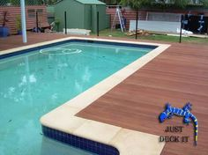 Image result for travertine and timber deck