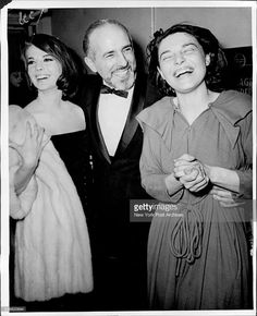 Anne Bancroft, who opened on Broadway, last night in Mother Courage, is congratulated backstage by Natalie Wood (L) and director Jerome Bobbins. See Richard Watts Jr.'s review on Page 25. March 29, 1963. (Photo by Arty Pomerantz/New York Post Archives / (c) NYP Holdings, Inc. via Getty Images)