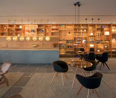 Built by studio mk27 in Rio de Janeiro, Brazil with date 2013. Images by Reinaldo Cóser. A lighting fixtures and systems store which, instead of taking the lamps out of context and into an aseptic space, it...