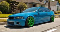 Laguna Seca Blue M3 x Green Volk wheels