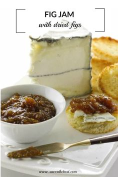 This homemade fig jam recipe with dried figs is easy and fast. Learn how to make your own jam for canning. Jelly Recipes, Jam Recipes, Canning Recipes, Sweet Recipes, Dessert Recipes, Yummy Recipes, Healthy Recipes, Fig Jelly, Jam And Jelly