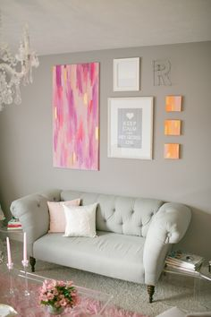 Loving this gallery wall: The Hey Gorgeous Events office, photo by Harrison Studio New Living Room, My New Room, Living Room Decor, Classic Room, Sweet Home, Welcome To My House, Hey Gorgeous, Beautiful, Shabby