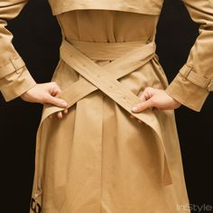 How to Tie a Trench Coat—Front and Back from InStyle.com