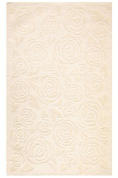 Block Print Rose Area Rug from Home Decorators - Girl room rug