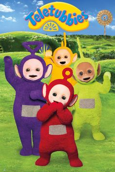 Teletubbies Group - Official Poster. Official Merchandise. Size: 61cm x 91.5cm. FREE SHIPPING
