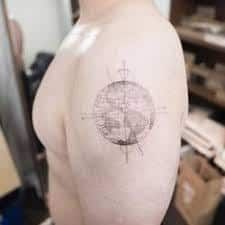 What does earth tattoo mean? We have earth tattoo ideas, designs, symbolism and we explain the meaning behind the tattoo. Earth Tattoo, Compass Tattoo, Tattoo Inspiration, Sleeve Tattoos, Piercings, Design, Ideas, Tattoo Sleeves, Peircings