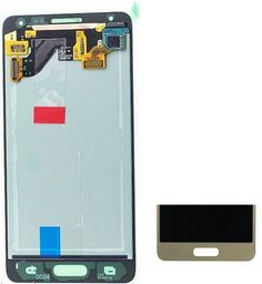 94.89$  Buy now - http://ali90w.worldwells.pw/go.php?t=32590339609 - Gold Lcd Display+Touch Glass Digitizer Assembly For Samsung Galaxy Alpha G850 G850F G850M G850S G850L replacement screen 94.89$