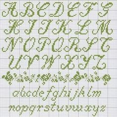 Alfabeto in corsivo a punto croce, Sampler gratis | Punto Croce