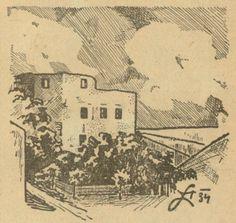 Kresba průčelí mladšího hradu vyšla na titulní straně časopisu Stráž na Dyji 4. 4. 1947. Vintage World Maps