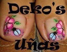 Imagen relacionada Flower Nails, Print Tattoos, Ladybug, Nail Designs, Nail Art, Feet Nails, Stickers, Beauty, Finger Nails