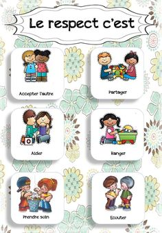 class displays - Comportement - Welcome Home Learning Activities, Kids Learning, Autism Education, Class Displays, French Language Lessons, French Education, French Classroom, Teaching French, French Teaching Resources