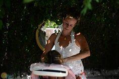 Anneke doing massages