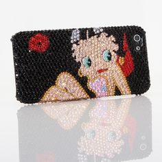 Bling Cases, Handmade Crystals Betty Boop Design case for iphone 5, iphone 5s…