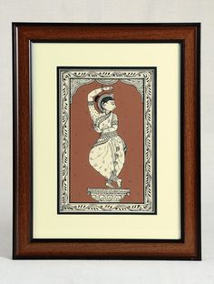 Buy Black Brown Framed Odissi Dance Mudra Pattachitra Painting on Silk 15in x 12in 0.6in Art Decorative Folk Picture Perfect Handmade Indian Traditional Paintings Online at Jaypore.com Kalamkari Painting, Madhubani Painting, Silk Painting, Indian Traditional Paintings, Indian Art Paintings, Online Painting, Paintings Online, Phad Painting, Kerala Mural Painting