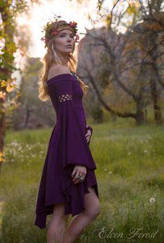 Summer's Eve Dress Elven Forest Bohemian Romantic by ElvenForest