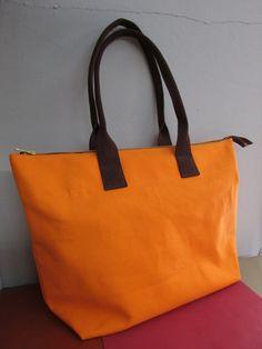 Vegan Canvas Zip Tote Bag by Patzbag on Etsy