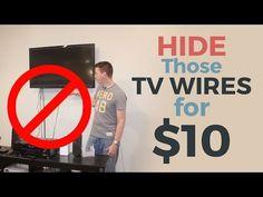 Vous en avez marre de tous ces câbles qui pendent sous votre écran de cinéma maison: Camouflez-les pour moins de 20$ ! - Les Maisons
