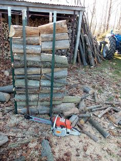 The Deliberate Agrarian: My WhizbangFirewood-Cutting Holder