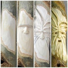 Learn Woodworking From blank to finished carving. This is a Daemon carved into an Ash twisted staff Whittling Projects, Whittling Wood, Dremel Projects, Wood Projects For Beginners, Wood Working For Beginners, Diy Wood Projects, Wood Crafts, Woodworking Images, Learn Woodworking