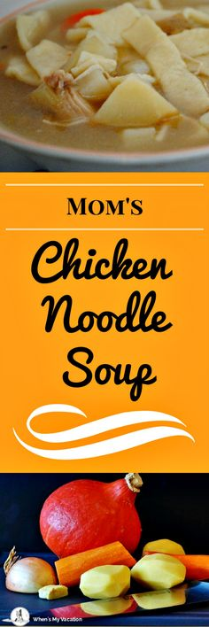 Nothing better to warm you up like homemade chicken noodle soup on a cold winter day.