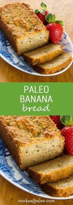 A paleo banana bread recipe that is gluten-free, grain-free, dairy-free, and refined sugar-free. Traditional banana bread flavor made healthy. via @cookeatpaleo
