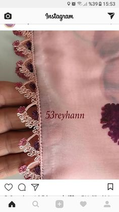 This Pin was discovered by Esm Hand Embroidery, Embroidery Designs, Saree Tassels, Needle Lace, Lace Making, Filet Crochet, Needlework, Elsa, Diy And Crafts