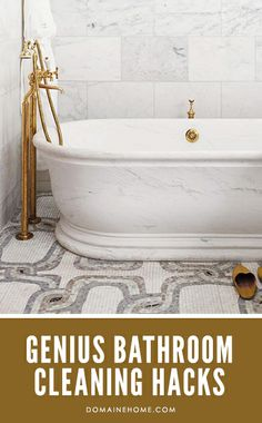 Genius hacks for cleaning up your bathroom really quickly.