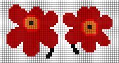 Inspired Marimekko flower perler Neulobead pattern