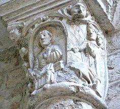 Abbaye de Fleury, San Benoit sur Loire Saint Benoit, Roman, Fleury, Columns, Lion Sculpture, Statue, Art, Big Top, Paint