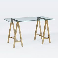 glass top office table chic. cross-base desk - polished nickel | pinterest desks, glass and industrial top office table chic