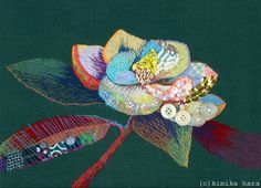 My Paisley World: The Embroidery of Kimika Hara Silk Ribbon Embroidery, Embroidery Thread, Embroidery Applique, Floral Embroidery, Japanese Embroidery, Thread Painting, Fabric Painting, Fabric Art, Fabric Flower Brooch