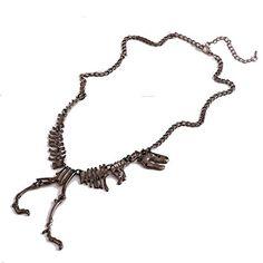 $1.85 Skeleton Dead Tyrannosaurus T Rex Charm Necklace 1pcs Black
