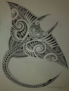 Polynesian Manta Ray by ~Tangaroa15 on deviantART..not the shape I want but I like the layers  #maori #tattoo #tattoos