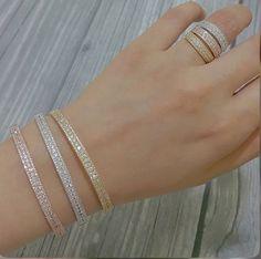 Ring Bracelet, Bangle Bracelets, Wedding Rings Vintage, Jewelry Patterns, Gold Bangles, Bracelet Designs, Unique Rings, Jewelry Art, Diamond Jewelry
