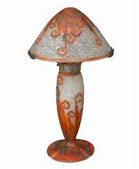 Lamp by Schneider Cristallerie Co.