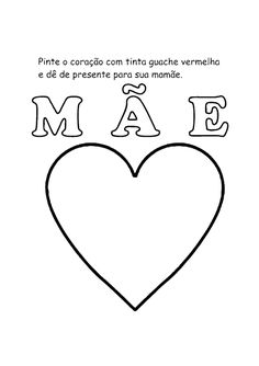 Atividades Dia das Mães para Educação Infantil para imprimir - SÓ ESCOLA
