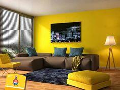 #ColorDelMes El color amarillo ayuda a mantener un buen estado de ánimo. ¡Úsalo para pintar tu sala y logra una mejor convivencia!