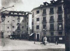 1915. Calle de Segovia.  Foto tomada desde la calle de San Justo.