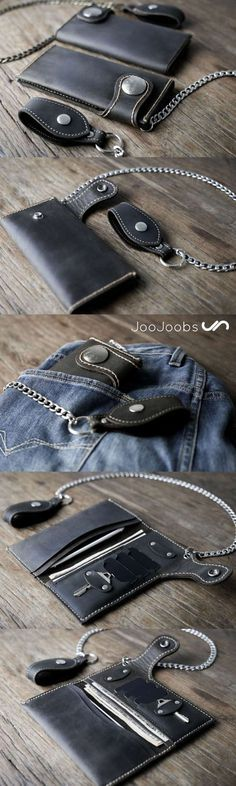 Bad to bone!  Check out our full sized biker chain wallet.  Handmade perfection!