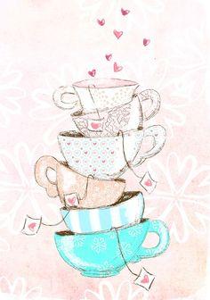 (via Mary Ann Wether) Tea cups and tea bags! <3