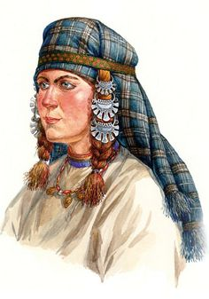 Russian woman from a small town near Moscow in a head-wear with temple pendants (kolty). Late 11 – early 12 century. Reconstruction of the wearing style according to the archaelogical data. #medieval #Russian #history