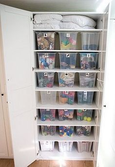 Finding Storage Space Part 9 - Maximising cabinet space Bookshelf Storage, Toy Storage, Storage Boxes, Storage Spaces, Storage Ideas, Wardrobe Organisation, Toy Organization, Kids Clothes Storage, Inside Cabinets