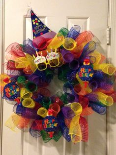 Birthday wreath, cute it could so do this
