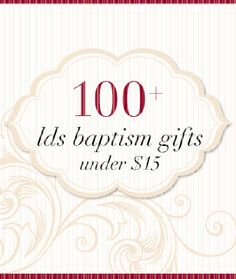 This site has over way over 100 baptism gift ideas on a BUDGET!