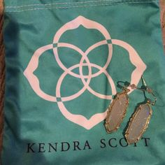 Kendra Scott Fran Ear Rings KENDRA SCOTT FRAN DROP EARRINGS IN IRIDESCENT DRUSY AND GOLD Kendra Scott Jewelry Earrings