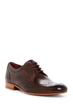 d4ab07ed68f89 Ted Baker London Gryene Leather Wingtip Derby Mens Fashion Suits