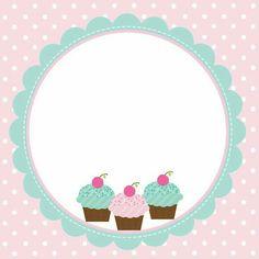 Cupcake Logo, Cupcake Card, Cupcakes Wallpaper, Sweet Logo, Cake Logo Design, Bakery Logo, Bake Sale, Name Cards, Flower Frame
