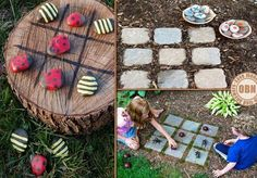 Great DIY backyard games that are great for the kids ! Outdoor Play Spaces, Outdoor Fun, Outdoor Tables, Outdoor Projects, Garden Projects, Diy Projects, Sensory Garden, Backyard Games